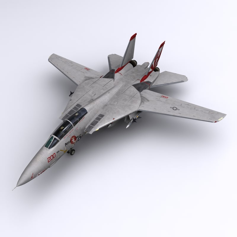 f-14 fighter jet vf-111 3d model