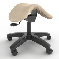Adjustable Height Saddle Stool 05