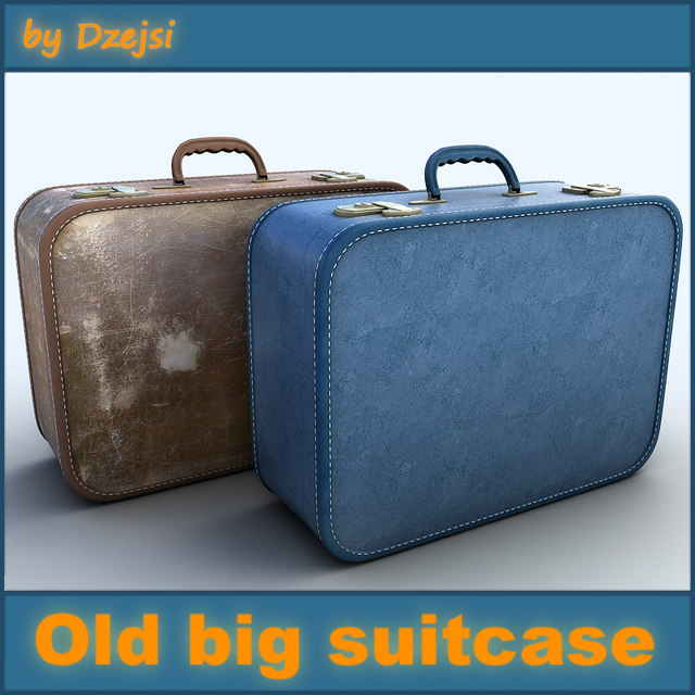 old big suitcase 3 3d fbx