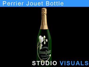 perrier jouet bottle 3d model