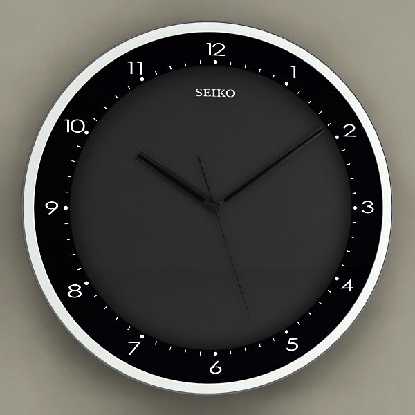 3d model of analog wall clock 12