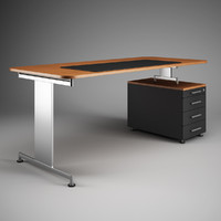 CGAxis Office Desk Workstation 41