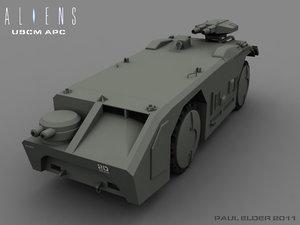 apc aliens interior 3d max