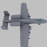 A-10 Thunderbolt 2 US Ground Attack Aircraft Game Model