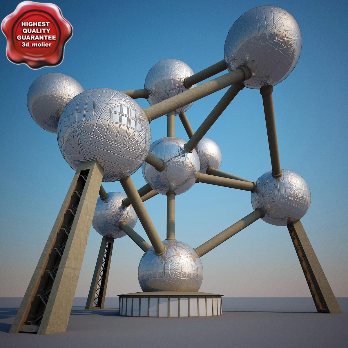 3ds atomium modelled
