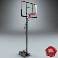 3d model basketball rim v3