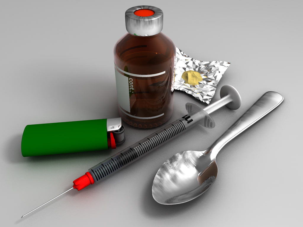 junkie equipment syringe c4d