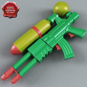 3d big water gun model