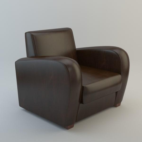 3d model club chair | 1