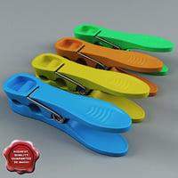 3d model clothespin v4