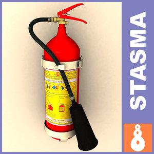 emergency extinguisher 3d model