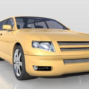 3d model kombi concept car