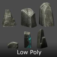 3d set stone model