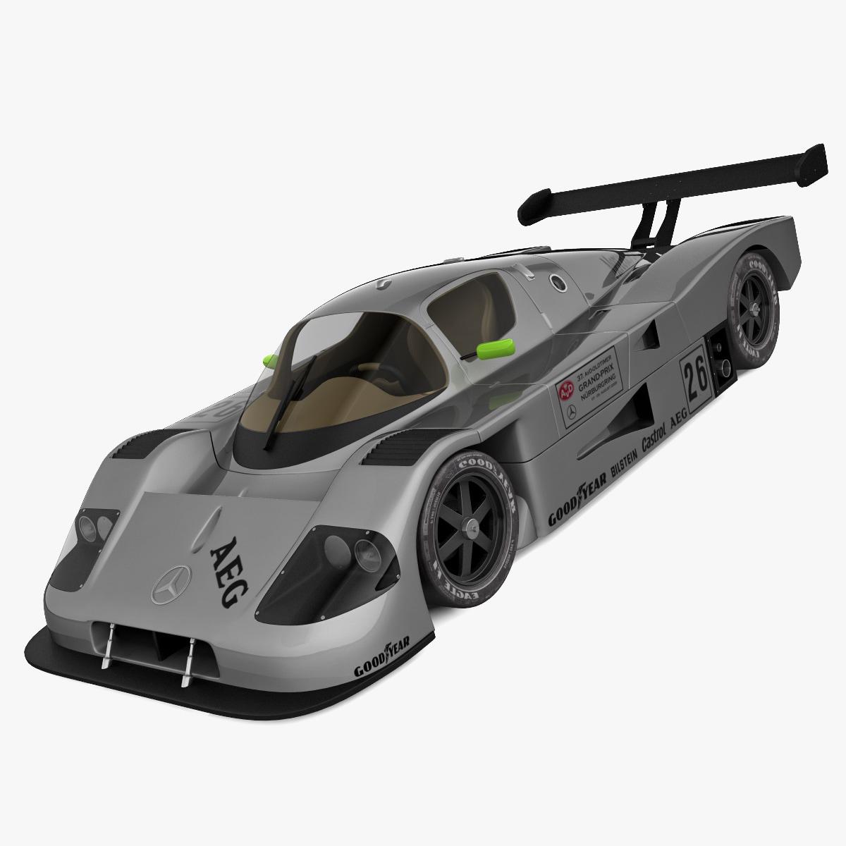 mercedes sauber c9 gray 3ds