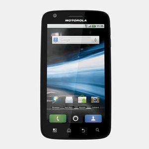 motorola atrix mobile phone 3d model