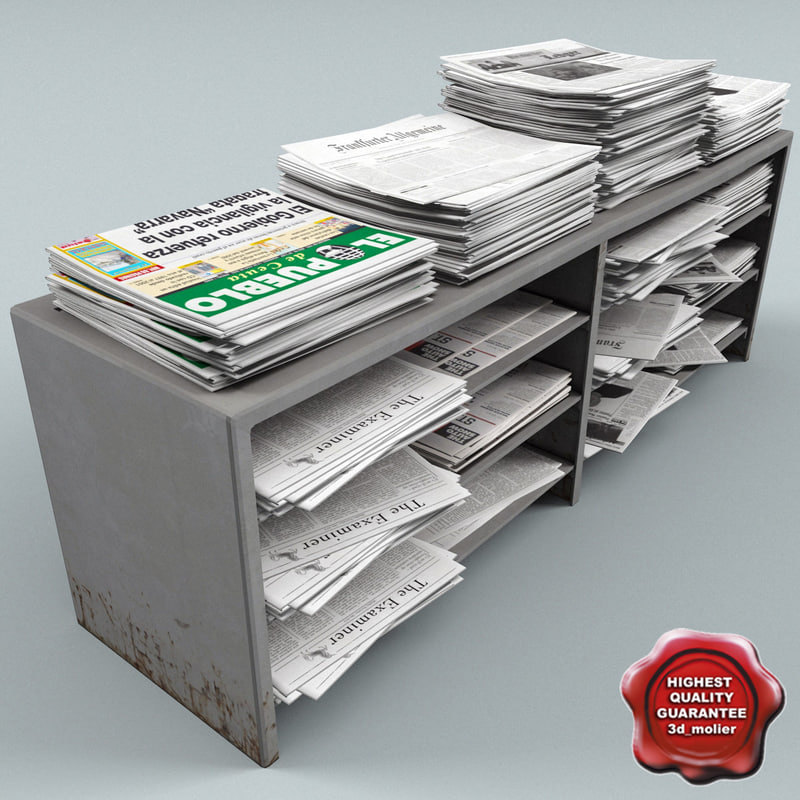 newspapers stand v1 3d max