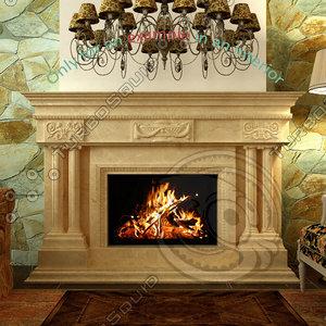 fireplace 27 3d model