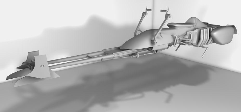 3d model speeder