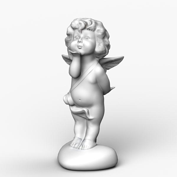 angel cheetah3d figurine 3d model