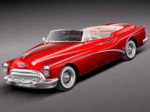 3d buick skylark convertible 1953 model