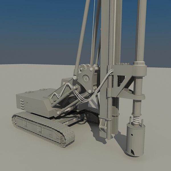 3dsmax drilling rig