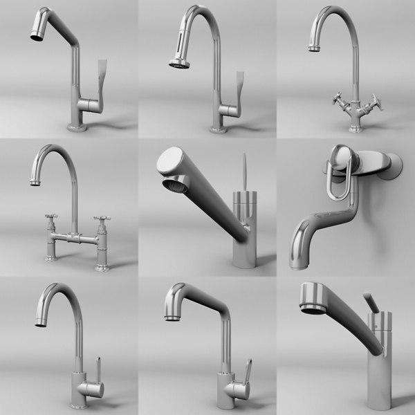 kitchen faucets 3d model