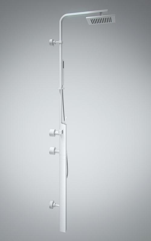 3d mixer headshower diverter model