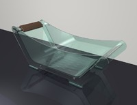modern glass bath tub 3d dxf