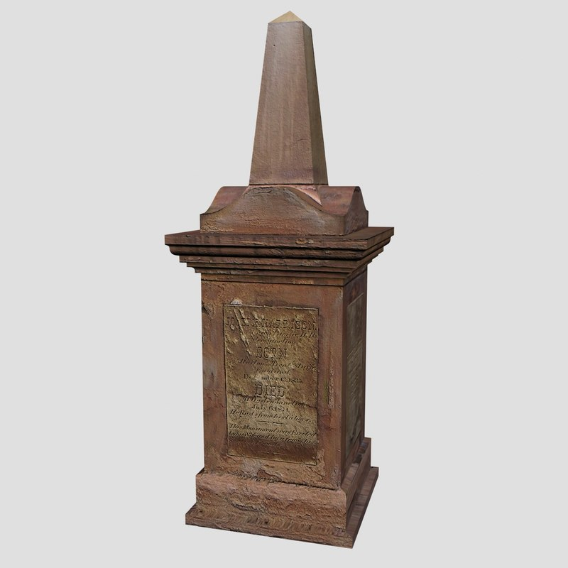 3d model grave tombstone