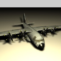 cinema4d c130 aircraft