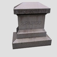 Low Poly Gravestone Spargo