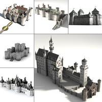castle 3d obj