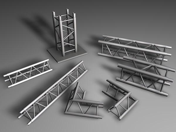 stage elements 3d model