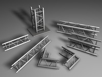 stage elements 3d model