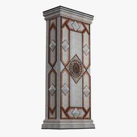 marble column 3d max