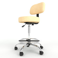 Adjustable Height Stool with Backrest Footring 04