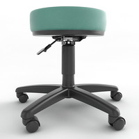 3ds max ergonomic stool height adjustment