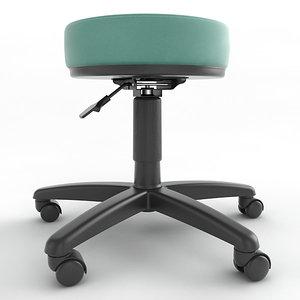 3ds max ergonomic stool height adjustment