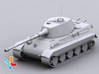 king tiger tank dwg