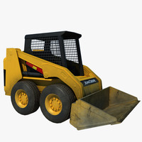 Skid Loader Low Poly