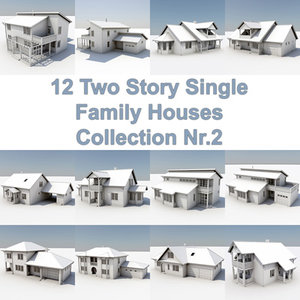 12 story houses 3d max