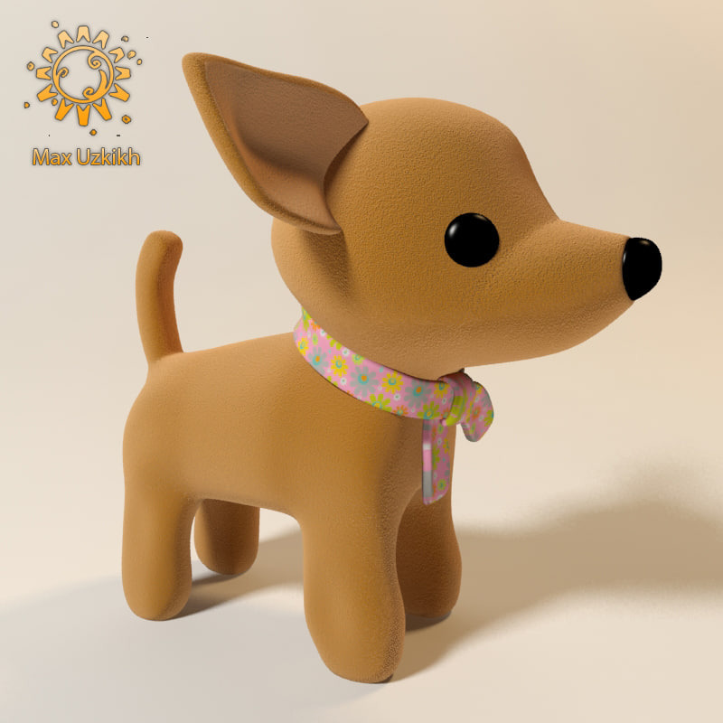 dog soft toy 3d max