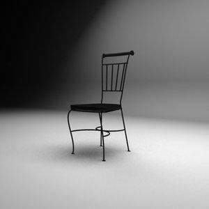 black coffe chair max