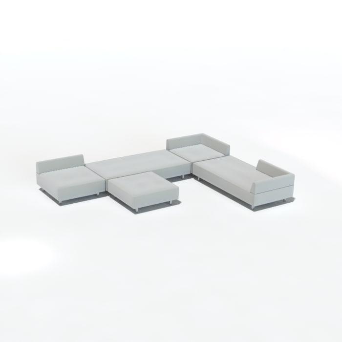 sofa sectional 3d model