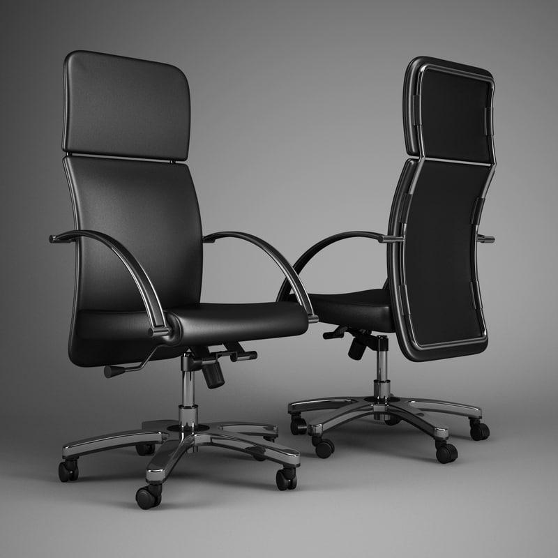 office chair 48 3d model