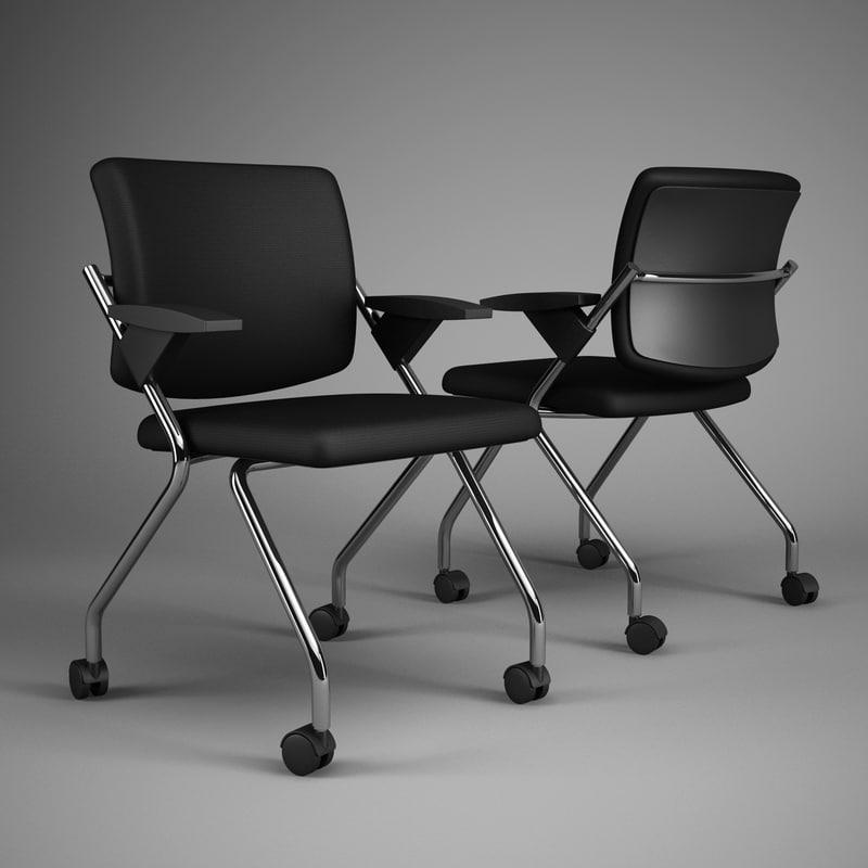 3d model office chair 64