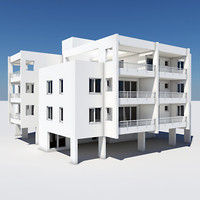apartment building 3d 3ds