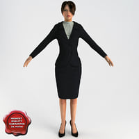 3d model of business woman