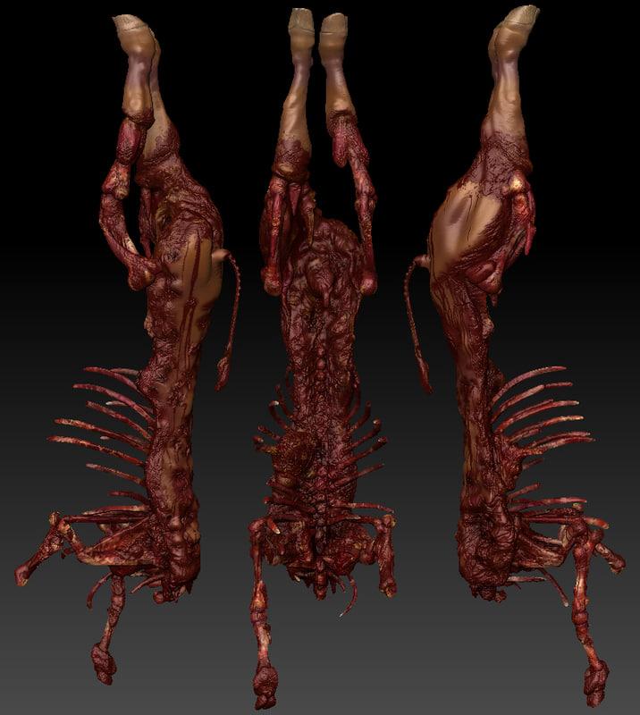 3d model dead cow