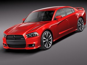 dodge charger srt8 2012 3d model
